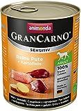Animonda GranCarno Hundefutter Sensitive Adult Reine Pute + Kartoffeln, 6er Pack (6 x 800 g)