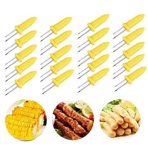 Corn on the Cob Holders Set für BBQ Twin Zinken kolbenmais Spieße Halter Gabel Küche Werkzeug-20PCS Corn-cob-form