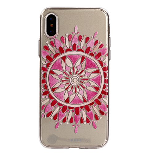 iPhone X Handyhülle,iPhone X Silikon Hülle,Cozy Hut 3D Handyhülle Muster Case Cover Für iPhone X Liquid Crystal Ultra Dünn Crystal Clear Transparent Handyhülle Soft Cover Premium Anti-Scratch TPU Durc Saflor