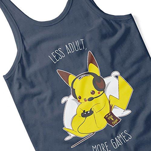 Pokemon Pikachu Keep Gaming Adults Men's Vest Navy Blue