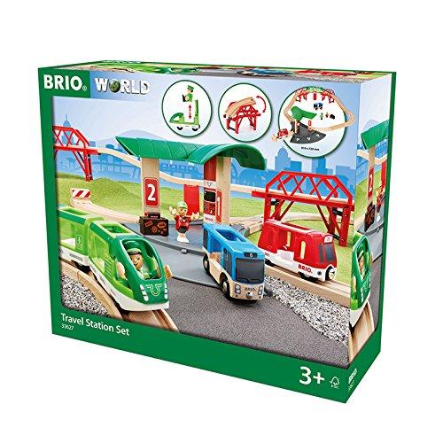 BRIO World 33627 - Reisezug Set mit Busbahnhof