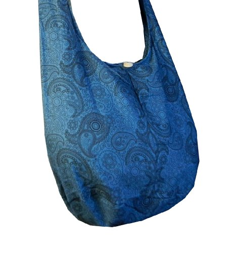 BenThai Products, Borsa a tracolla donna Patchwork Random Colors Height: 14 Blue PL31