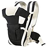 Honey Bee Adjustable Hands-Free 4-in-1 Baby Carrier with Comfortable Head Support & Buckle Straps
