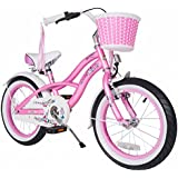 BIKESTAR® Premium Design Kids Bike ★ For cool kids aged from 4 years ★ 16s Deluxe Cruiser Edition ★ Glamour Pink