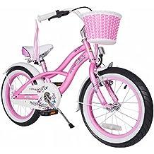 bike*star 40.6cm (16 pulgada) Bicicleta para niños - Cruiser - Rosa / Rojillo