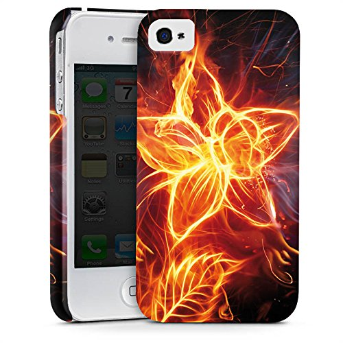 Apple iPhone X Silikon Hülle Case Schutzhülle Feuer Blume Pflanze Premium Case glänzend