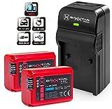Baxxtar RAZER 600 II Ladegerät 5 in 1 + 2x Baxxtar PRO ENERGY Akku für Sony NP-FW50 (echte 1080mAh) passend zu Sony ILCE QX1 Alpha 5000 5100 6000 6300 6500 Alpha 7 und 7 II 7S CyberShot DSC RX10 -- Sony NEX-6 NEX-F3 NEX-7 NEX-7B NEX-7C NEX-7K NEX-3 NEX-3N NEX-C3 Nex-5 NEX-5N NEX-5K NEX-5R SLT A55 A33 A35 A37 A3000 usw -- NEUHEIT mit Micro-USB Eingang und USB-Ausgang, zum gleichzeitigen Laden eines Drittgerätes (GoPro, iPhone, Tablet, Smartphone..usw.) !!