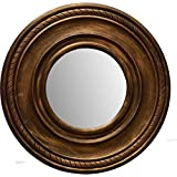 A.R Handicraft Decorative Mirror (Round Finish : Glossy) (Brown)