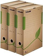 Esselte Eco Lot de 25 Boites archives dos 80 mm Brun