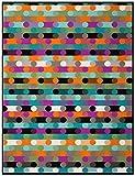 Biederlack Wohn- und Kuscheldecke, 60% Baumwolle, Samtband-Einfassung, 150 x 200 cm, Mehrfarbig, Exquisite Cotton Mix Paint, 646125