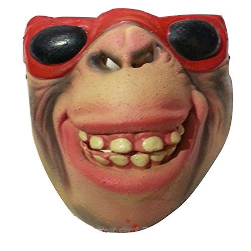 UGUAX Horrible Scary Maske Cosplay Kostüm Funny Latex Half Face Masken für Halloween Party Horror Nights Clown Maske # 21