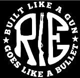 #1: Onlinemart pack of 2 RE Like a gun White STICKER DECAL STICKER for Royal Enfield BULLET/BIKE STICKER (11.5 Cm X 11.5 Cm)
