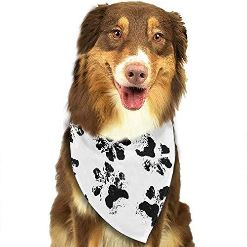YAGEAD Hund Bandana Welpe und Haustier Bandanas, schwarzer Hundepfoten Haustier Schal