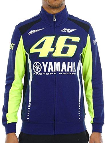 Valentino Rossi Yamaha Pullover-Jacke Racing Line Blau-Grun (XX-Large, Blau)