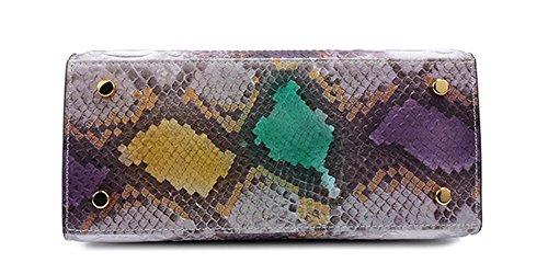 Xinmaoyuan Borse donna in pelle a serpentina Borsetta tracolla alla moda pacchetto diagonale di borsette in cuoio Verde