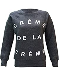 WOMENS LADIES COCAINE & CAVIAR AND CREME DE LA CREME PRINT JUMPER SWEATSHIRT SIZES 8-14
