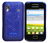 Luxburg Diamond Design custodia Cover per Samsung Galaxy Ace GT-S5830 colore blu oltremare, custodia in silicone TPU