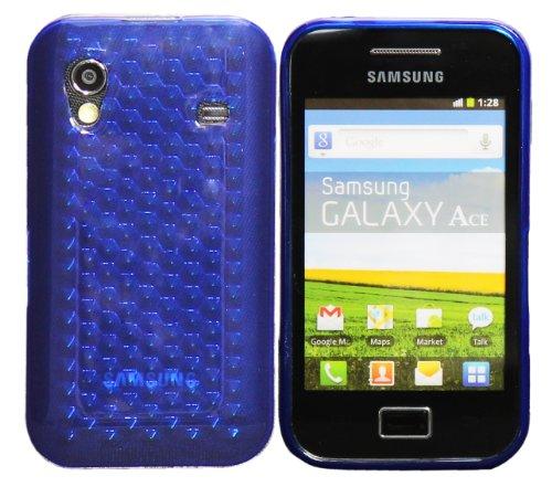 Luxburg Diamond Design custodia Cover per Samsung Galaxy Ace GT-S5830 colore blu oltremare, custodia in silicone TPU
