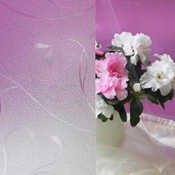 DODOING Blume Blickdicht Fensterfolie Sichtschutzfolie