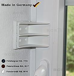Safety Click Fensterschloß Fenstersicherung Türsicherung Zusatzschloß Einbruchschutz Türschloß Sicherheitswinkel Kindersicherung (grau)