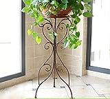Huajia Bügeleisen Blumenständer Einzelboden Boden Balkon Innen Wohnzimmer Einbauschrank Grün Türkis Orchidee Bonsai Regal