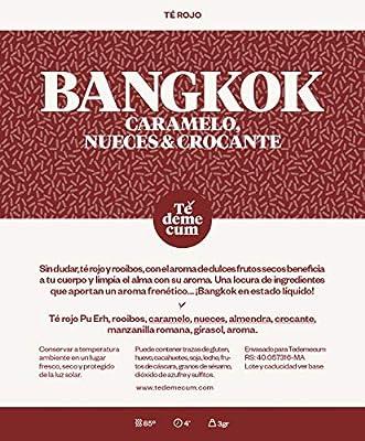 BANGKOK Gourmet 100gr. Thé rouge pu erh, rooibos, caramel, noix, amande, croustillant, camomille romaine, tournesol, arôme