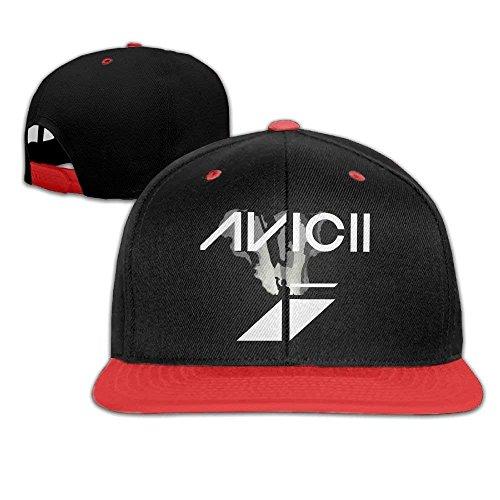 7ec376eb ewtretr Avicii Baseball Caps Red Adjustable Unisex Suitable for All Seasons