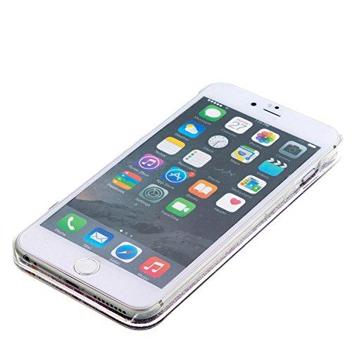 MOONCASE iPhone 5C Case, Glitter Sparkle Bling Liquide Transparent Étui Coque pour iPhone 5C Dur PC Plastique Rigide Housse de Protection (Bleu) Bleu
