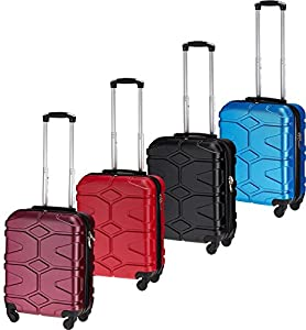 One color design Cabin Hand Luggage Suitcase 4 Wheeled ABS Travel Case Bag