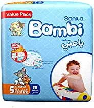 Sanita Bambi Baby Diapers Value Pack Size 5, X-Large, 12-22 KG, 28 Count