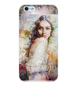 ColourCraft Girl Design Back Case Cover for APPLE IPHONE 6S