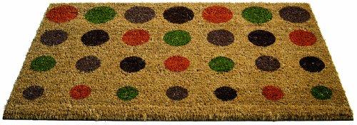 Felpudos fibra coco, diseño de círculos de colores (fibras de coco,