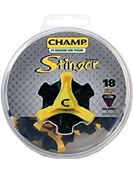 Champ Crampon (18 Pcs) Q-Lok Golf Noir/Jaune