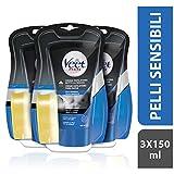 Veet for Men Crema sotto la doccia pelli sensibili petto e corpo 3 x 150ml