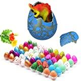 Chakil 5 pcs/set Magic Hatching Dinosaur Egg Add Water Growing Dinosaur Eggs Kids Expansion Toy Gift