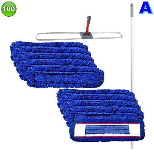maxxi4you Set mit 10 Wischmopp Wischmop Acryl Industriequalität Waschbar in 40 50 60 80 cm (100 cm)