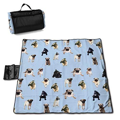 Socksforu Pug Live Portable Large Picnic Blanket 57