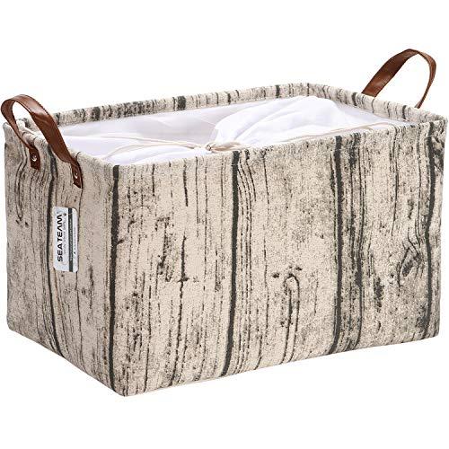Sea Team - Cesta de almacenamiento confeccionada de tela de lona, con...