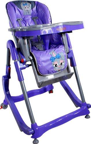 Chaise haute de bébé pour enfants ARTI Modern RT-004 Violet Sweet Bunny haute pour bébés avec transat, balancelle fonction