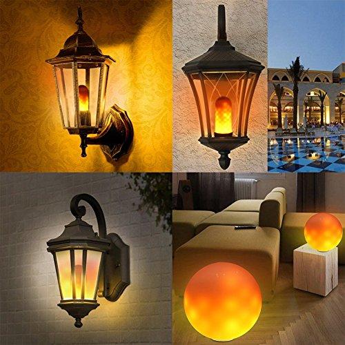 LED Efecto llama fuego luz bombillas, E2796SMD Creative decoración emulación de luces, con vela, Vintage atmósfera lámparas decorativas para Navidad, día de Acción de Gracias, boda, fiesta, 1pcs