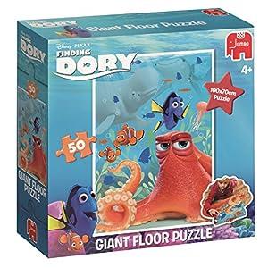 Jumbo Disney Finding Dory Giant Floor Puzzle 50 pcs - Rompecabezas (Rompecabezas para Suelo, Dibujos, Preescolar, Disney Pixar Finding Dori, Niño/niña, 4 año(s))