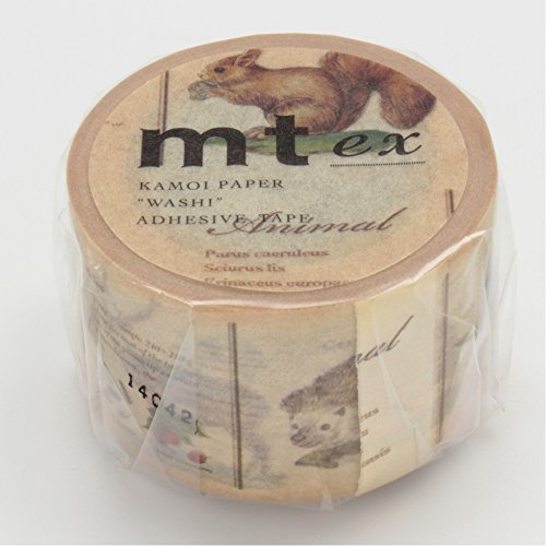 mt-ex-series-washi-paper-masking-tape-1-1-5-in-x-33-ft-animal