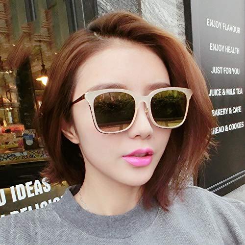 Shiduoli Runde Flamme Sonnenbrille für Frauen polarisiert (Color : C)