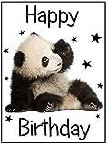 Panda A4 Kuchen Figur made von essbare zucker zuckerguss