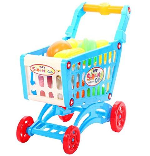 PREMIUM Einkaufswagen für Kinder mit viel Inhalt - Supermarkt Laden Spiel