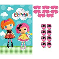 "‏‪Adorable Lalaloopsy Birthday Party Game Activity (4 Pack), Blue/Pink, 25"" x 37"".‬‏"