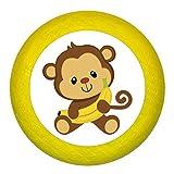 """Kommodengriff""""Affe Banane"""" gelb Holz Buche Kinder Kinderzimmer 1 Stück wilde Tiere Zootiere Dschungeltiere Traum Kind"""