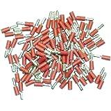 Cosses électriques mâles rondes ROUGES de 4 - Sachet de 100