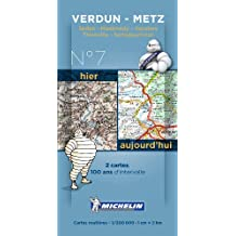 Pack 2 cartes hier/aujourd'hui Verdun - Metz Michelin