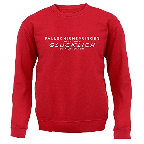 Fallschirmspringen macht mich glücklich - Unisex Pullover/Sweatshirt - 8 Farben Rot